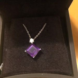 Bailey Banks & Biddle Amethyst necklace